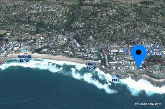Map Sue Casa in Manaba Beach  South Coast (KZN)  KwaZulu Natal  Suid-Afrika