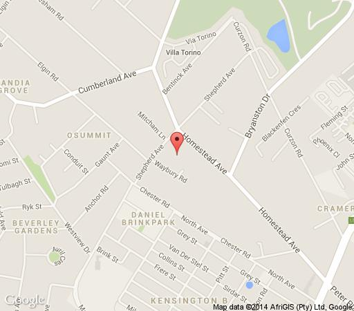 Map 50 On Shepherd Boutique Guest House in Bryanston  Sandton  Johannesburg  Gauteng  South Africa
