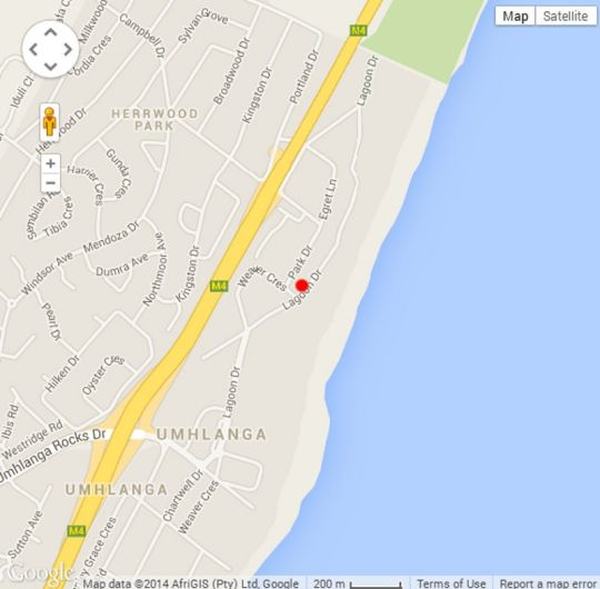 Map 2 Ipanema Beach in Umhlanga Rocks  Umhlanga  Northern Suburbs (DBN)  Durban and Surrounds  KwaZulu Natal  South Africa