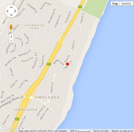 Map 2 Ipanema Beach in Umhlanga Rocks  Umhlanga  Northern Suburbs (DBN)  Durban and Surrounds  KwaZulu Natal  South Africa