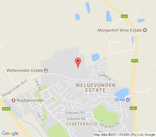 Map Weltevreden Retief Residence in Stellenbosch  Cape Winelands  Western Cape  South Africa
