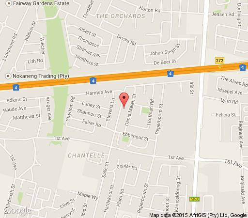 Map Koiketla Guesthouse in Akasia  Pretoria North  Pretoria / Tshwane  Gauteng  South Africa