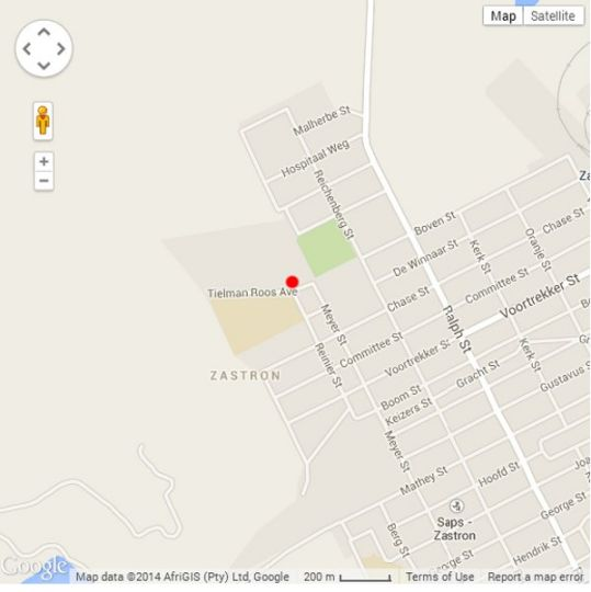 Map Vultures Lodge Zastron in Zastron  Xhariep (Southern Free State)  Free State  South Africa