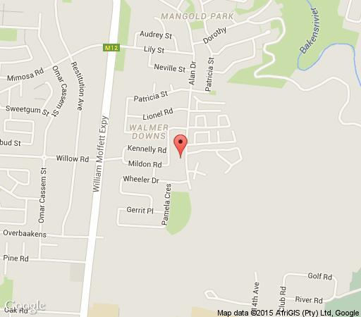 Map 45 Alan Drive Accommodation in Walmer  Port Elizabeth  Cacadu (Sarah Baartman)  Eastern Cape  South Africa