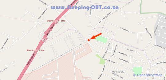 Map Elrido Lodge in Bloemfontein  Mangaung  Free State  South Africa