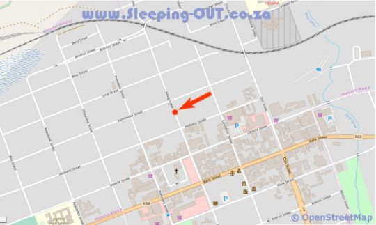 Map Villa Beryl Guesthouse in Vryheid  Zululand  KwaZulu Natal  Suid-Afrika
