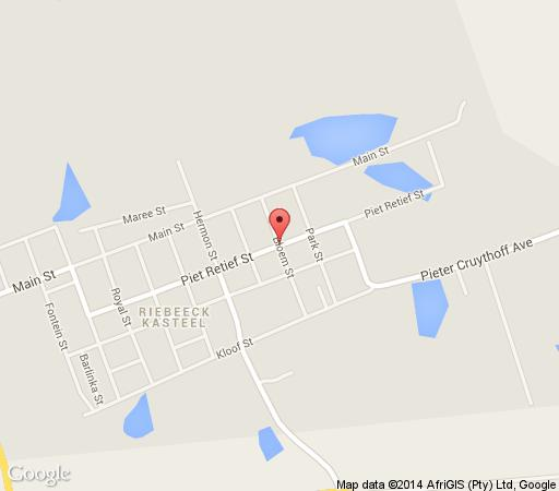Map Bloemendal Guest Cottage in Riebeek Kasteel  Cape Winelands  Western Cape  South Africa