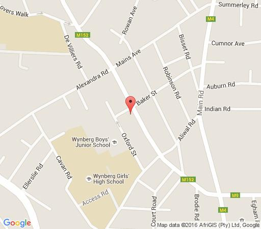 Map Silwerboom Apartment in Kenilworth  Southern Suburbs (CPT)  Cape Town  Western Cape  South Africa
