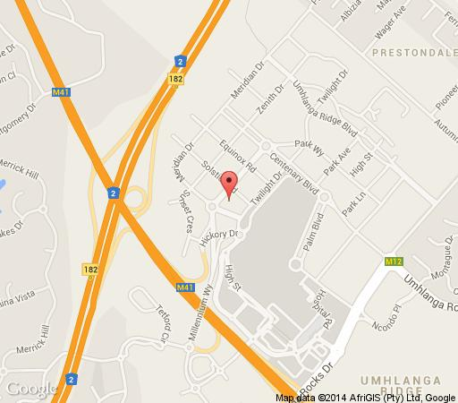Map Southern Anchorage Holiday Apartments in Umhlanga Ridge Umhlanga