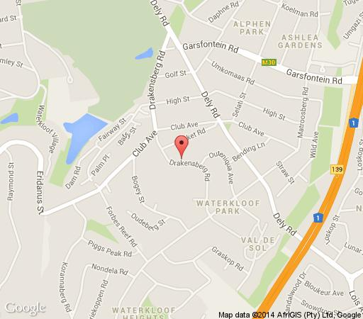 Map Duke & Duchess Boutique Hotel in Waterkloof  Pretoria East  Pretoria / Tshwane  Gauteng  South Africa