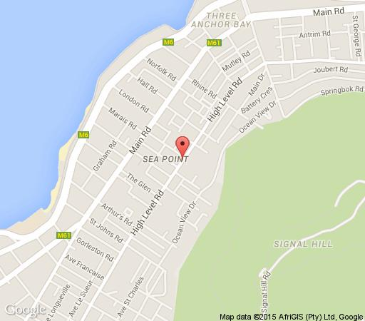 Map St Ronans  in Sea Point  Atlantic Seaboard  Cape Town  Western Cape  South Africa