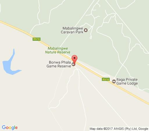 Map Bonwa Phala Game Lodge in Bela Bela  Bushveld  Limpopo  South Africa