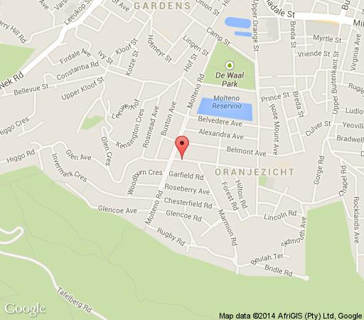 Map Cape Lofts in Oranjezicht  City Bowl  Cape Town  Western Cape  South Africa