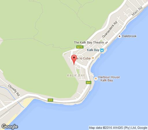 Map Fisherman Flat in Kalk Bay  False Bay  Cape Town  Western Cape  South Africa