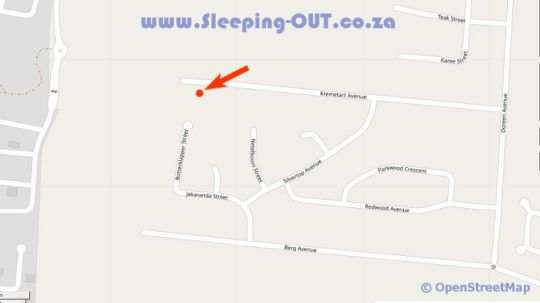 Map Casa de Ross  in Amandasig  Pretoria North  Pretoria / Tshwane  Gauteng  South Africa