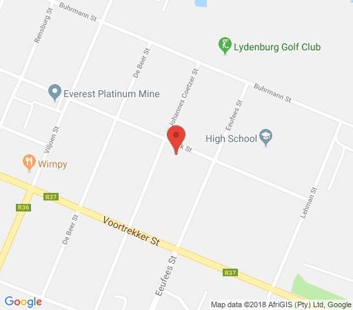 Map Dankhof Guest House in Lydenburg  Highlands  Mpumalanga  South Africa