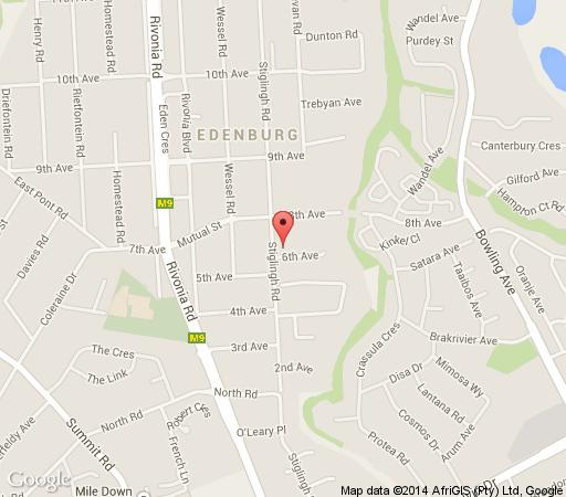 Map Muco Guest House in Rivonia  Sandton  Johannesburg  Gauteng  South Africa