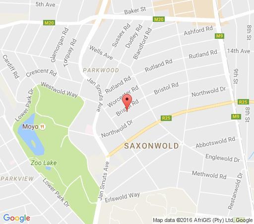 Map Avondhu Guest House in Rosebank (JHB)  Northcliff/Rosebank  Johannesburg  Gauteng  South Africa