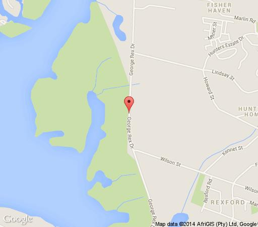 Map Woodbourne Resort in Knysna  Garden Route  Western Cape  South Africa