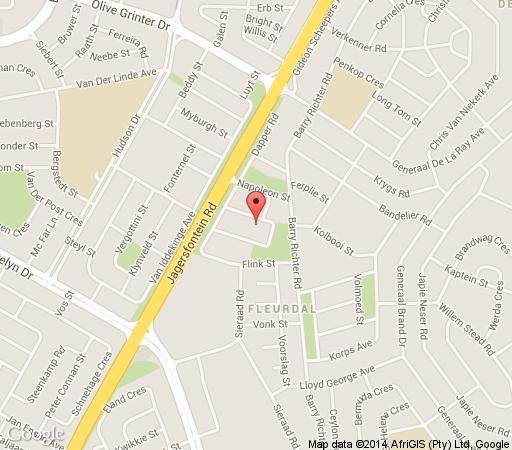 Map 34 At Dapper in Bloemfontein  Mangaung  Free State  South Africa