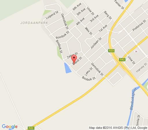 Map Bri-Shel Manor in Heidelberg  Sedibeng District  Gauteng  South Africa