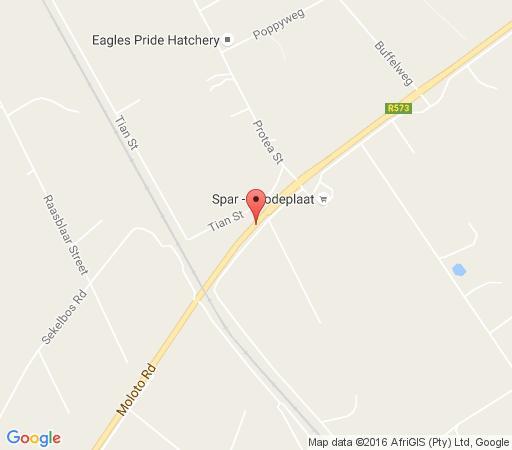 Map Biancas B&B in Derdepoort  Pretoria North  Pretoria / Tshwane  Gauteng  South Africa