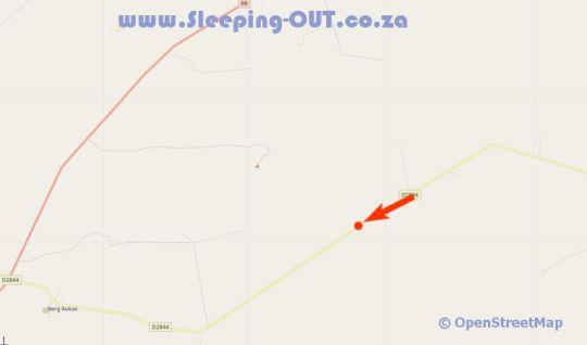 Map Dornhuegel Guestfarm in Grootfontein (NA)  Otjozondijupa  Namibia