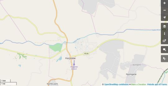 Map Woodlands Guesthouse Hazyview in Hazyview  The Panorama  Mpumalanga  South Africa