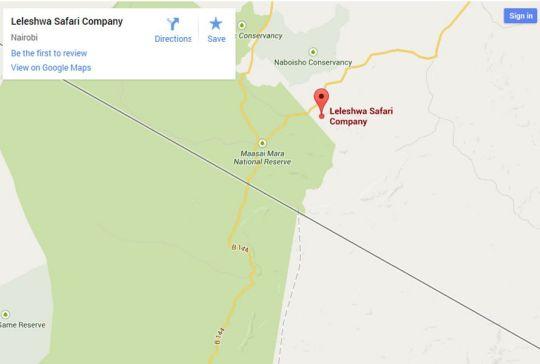 Map Leleshwa Camp in Maasai Mara National Reserve  Kenya
