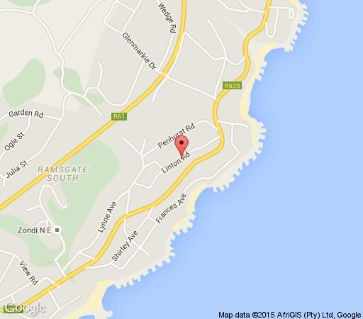 Map Ramsgate Guest House in Ramsgate  South Coast (KZN)  KwaZulu Natal  South Africa