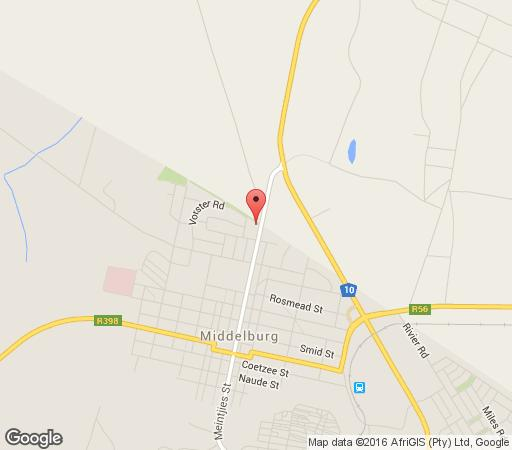 Map Aloes Guest House in Middelburg (EC)  Stormberg District  Eastern Cape  South Africa
