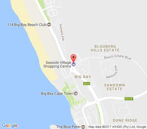 Map j9 seaside village in big bay blaauwberg cape town western cape
