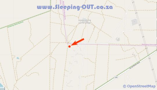 Map Isilwane Bush Camp in Dinokeng North  Metsweding District  Gauteng  South Africa