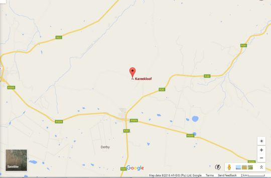 Map Kareekloof Game Farm  in Rustenburg  Bojanala  North West  South Africa
