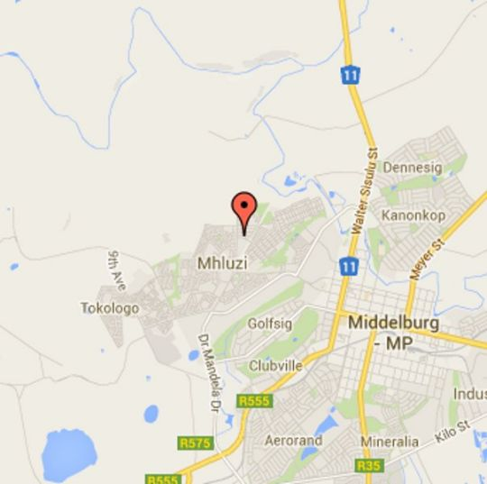 Map Oregon Place Guesthouse in Middelburg (MP)  Heartland  Mpumalanga  South Africa