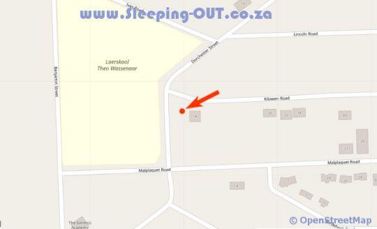Map Gold Reef Lodge in Robertsham  Johannesburg South  Johannesburg  Gauteng  Zuid-Afrika