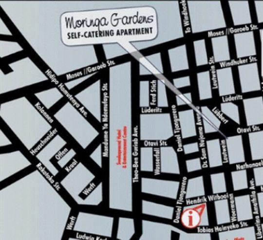 Map Moringa Gardens in Swakopmund  Erongo  Namibia