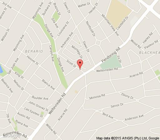 Map Morrells Farm House in Northcliff  Northcliff/Rosebank  Johannesburg  Gauteng  South Africa