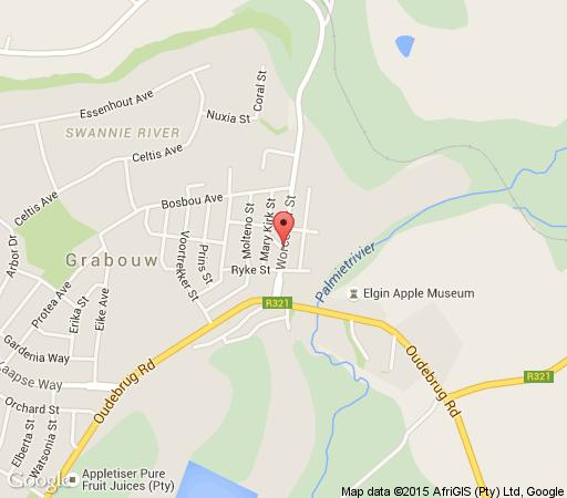 Map Elgin Grabouw Country Club in Grabouw  Overberg  Western Cape  South Africa
