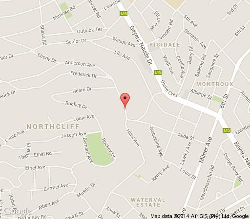 Map Over The Moon Guesthouse in Northcliff  Northcliff/Rosebank  Johannesburg  Gauteng  South Africa