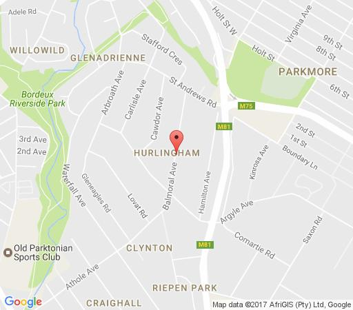 Map Pin Oaks Bed and Breakfast in Hurlingham  Sandton  Johannesburg  Gauteng  South Africa