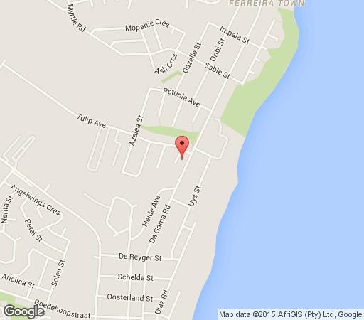 Map Madiolyn Beach House in Jeffreys Bay  Cacadu (Sarah Baartman)  Eastern Cape  South Africa