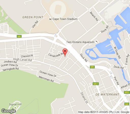 Map Kassie Studios in Green Point  Atlantic Seaboard  Cape Town  Western Cape  South Africa