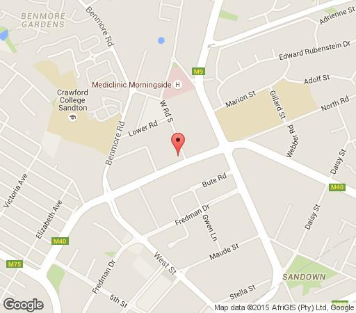 Map Sandton Executive Suites : Westpoint in Morningside (JHB)  Sandton  Johannesburg  Gauteng  South Africa