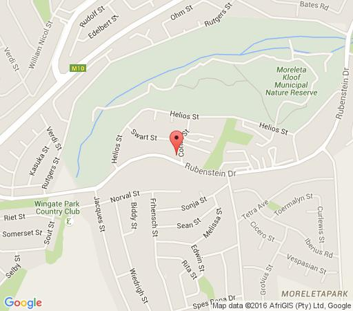 Map The Angels Place Boutique Guest House in Moreleta Park  Pretoria East  Pretoria / Tshwane  Gauteng  South Africa