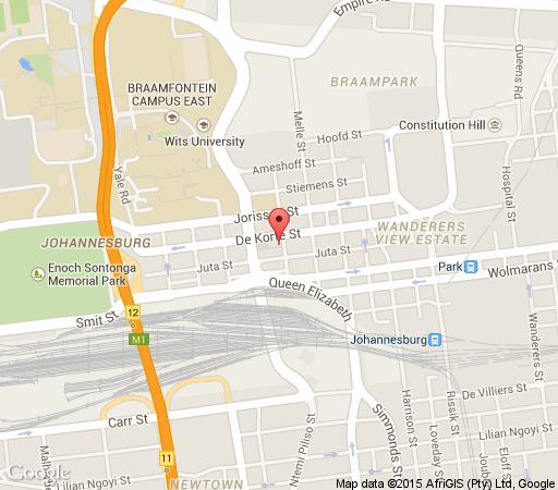 Map The Bannister Hotel  in Braamfontein  Northcliff/Rosebank  Johannesburg  Gauteng  South Africa