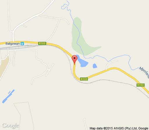 Map The Falls Cottages in Balgowan  Midlands  KwaZulu Natal  South Africa