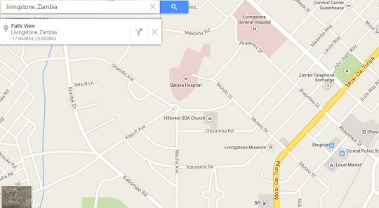 Map LePatino  in Livingstone CBD  Livingstone  Zambia