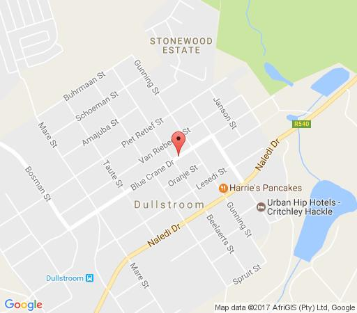 Map KlipHuisjes in Dullstroom  Highlands  Mpumalanga  South Africa