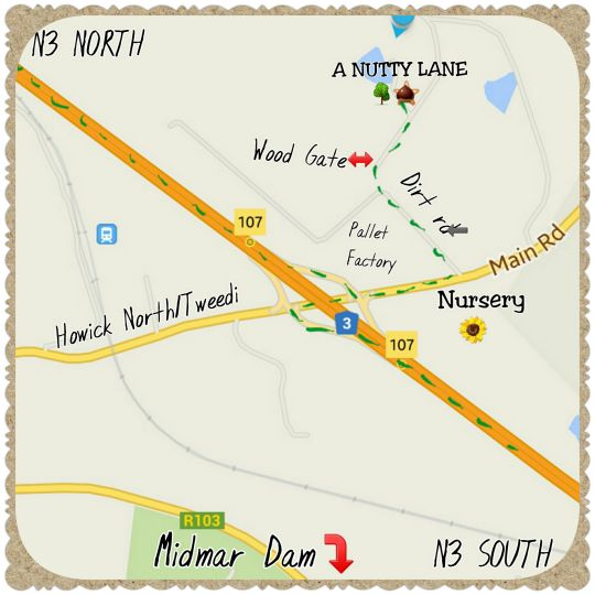 Map A Nutty Lane in Howick  Midlands  KwaZulu Natal  South Africa